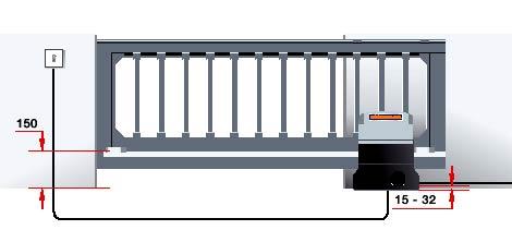 Электро приводы ворот Hormann серии STA 180 для откатных ворот данные для монтажа