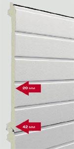 Секционные ворота Hormann TPU 40 сэндвич панели