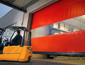 Гибкие вертикальные скоростные ворота Hormann V 6030 SE наружного применения