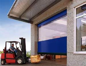 Скоростные ворота Hormann серии V 6030 SE для наружнего применения с системой защиты от наезда.